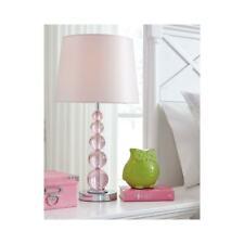 Table Lamp Light Youth Girls Kids Room Decor Room Lighting Crystal Plug In Pink