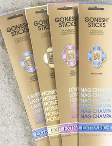 Gonesh Premuim Incense Packs (20 sticks per pack) - Extra Rich Collection $2.00e