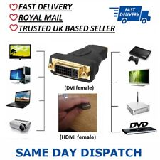 DVI-D Female to HDMI Female Adapter, High Speed HDMI Female To DVI Female
