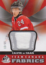 12-13 SP Game Used FIGHT STRAP xx/15 Made! Calvin De HAAN - TEAM CANADA