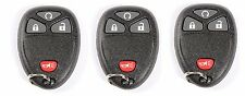 3 New Replacement Keyless Entry Remote Fob For GM Chevy 4 Button 15913421