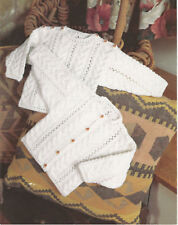 Knitting Pattern -Baby Cable cardigan & sweater-4ply wool-chest 16-26 - Birth-7y