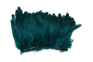 "100 Pcs ROOSTER Coque Fringe - TEAL 4-6""Feathers (Trim/Costume/Halloween)"