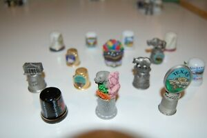 Travel Thimbles from the U.S. & Canada collectible pewter, porcelain you choose