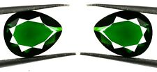Green Garnet 3.85 Ct Gemstone Natural Pear Shape Matching Pair AGSL Certified
