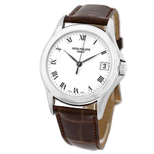 PATEK PHILIPPE 18K White Gold Calatrava Automatic # 5117 G Box Warranty MINTY