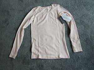 Athleta XS Long Sleeve Stretch Shirt Thumb holes Pink extra small BRAND NEW TAGS
