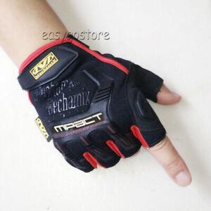 Mechanix M-Pact Fingerless Tactical Gloves Military Race Sport Mechanic Military