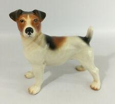 Vintage Large Melba Ware England Jack Russel Terrier Ceramic Ornament Figurine