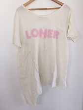 """Wildfox Couture """"Loner"""" Tee, Vintage Lace color, Size S"""