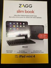 Zagg Ultrathin Slim Book Hinged Keyboard Case for iPad Mini 4