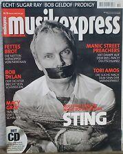 Musikexpress Oktober 2001 mit CD Sting Tori Amos Manic Street Preachers Fettes B