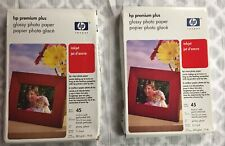 2 HP Premium Plus Glossy Photo Paper 4 x 6 Inch 45 Sheets NEW Sealed Pkg Q5519A