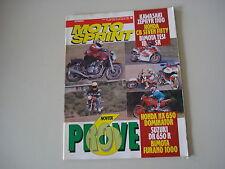 MOTOSPRINT 10/1992 KAWASAKI ZEPHYR 1100/BIMOTA TESI/FURANO/DIECI/SUZUKI DR 650 R