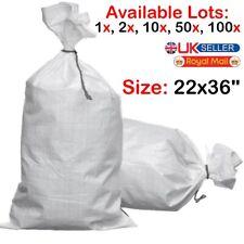 More details for white woven (wpp) heavy duty durable reusable rubble bags/sacks size : 22 x 36