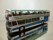 BUS COACH TOURINGCAR NEOPLAN SKYLINER  NH 22 L - WHITE + BLUE 1:43 - GOOD