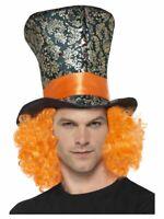 Cappello Cappellaio Matto con Capelli Arancioni e una piuma-Alice nel paese delle meraviglie Costume