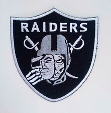 "Oakland Raiders Unmasked Embroidered 3.5"" Iron On Patch"