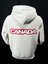 Hudson Bay Co. Canada  '06 Olympic Beige Faux Suede Sherpa Lined Full Zip Size S