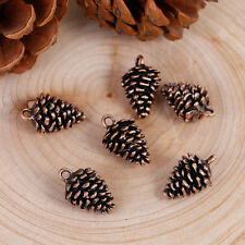 10 PINE CONE Copper Charm Pendants, Pinecones, Evergreen Pine Tree, 20mm chc0072