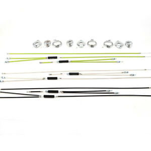 BMX Bike Gyro Brake Cables Front + Rear (Upper + Lower) Spinner Rotor Set Kit