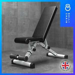 HEAVY DUTY Adjustable Weight Bench Gym Flat Incline Decline Foldable Dumbbell