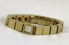 Delicate Square Alfex Designer Women's Watch Swiss Made Hard Gold Plated