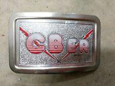 CBer Radio Trucker Truck Glitter Design Fisher Belt Buckle Nebraska