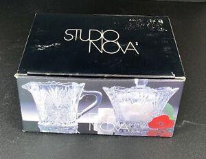 Studio Nova Crystal Sugar And Cream Set. Beautiful Piece In Box!! (NIB)