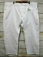 Levi's 501 Jeans Mens 56X30 White Original Straight Leg Button Fly Cotton New