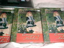 LOT OF 3 Books EMERGENCY Address Phone Number Contact Email Addresses Birthday