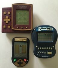 3 Vintage Handheld Games Solitaire Lite Deal Or No Deal Scrabble Express