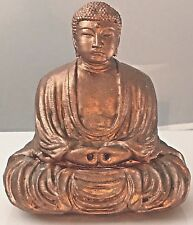 Sale!! Handmade Amida Buddha in Copper with Green Patina