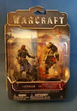 "World of Warcraft Lothar VS Horde Warrior Mini Figure 2-pack   2.5""  NIP  6+"