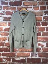 $845 RRL M Ralph Lauren Oatmeal Knit High Western Thick Heavy Cardigan Sweater