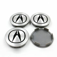 NEW ACURA 4PC SET SILVER WHEEL CENTER HUB COVER LOGO CAPS 69MM RIM EMBLEM BADGE