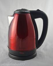 Royalty Line EWK-2200.7C Wasserkocher / Wasserkessel / 1500W / Farbe: Rot