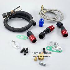 For T3 T4 T3/T4 T70 T66 TO4E Turbo Oil Feed Return Drain Line Pipe Kit