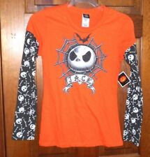 JACK SKELLINGTON Nightmare Before Christmas Shirt Womens Juniors sz M 7/9 NWT