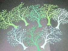 DIE CUTS  TREES 7 OF WONDER  5VARIETY GREEN SHADES  CARDSTOCK