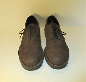 H.S. Trask Dark Brown Leather Lace Up Oxfords-Sz-9.5M  USA Made!