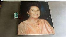 Tableau peinture à l'huile portrait d'une dame signé CHRISTELLE MERLOT 1995