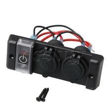 Black DC12V Rocker Switch Panel Circuit Breaker for Car Marine Boat