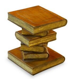 Wood Side Table Books Stack Flower Stand Solid Wood Podium Wooden Table Small