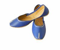 Women Shoes Indian Traditional Handmade Ballerinas Blue Jutties UK 5.5 EU 38.5