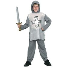 Large Boys Knight Costume - Fancy Dress Medieval Outfit Kids Crusader Book Week