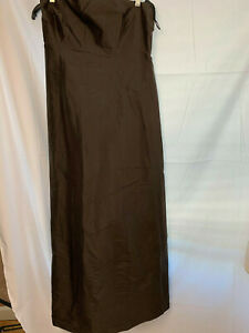 Brown Evening Gown Simple Silhouettes Size 8 Strapless
