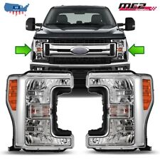 For 2017 Ford F250/350/450 Headlight Headlamp Complete Kit Left Right Pair