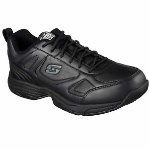Skechers Mens 77111 Work Relaxed Fit Dighton Slip Resistant Shoes