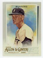 2020 Topps Allen & Ginter #341 JIM BUNNING Detroit Tigers BASE BASEBALL CARD